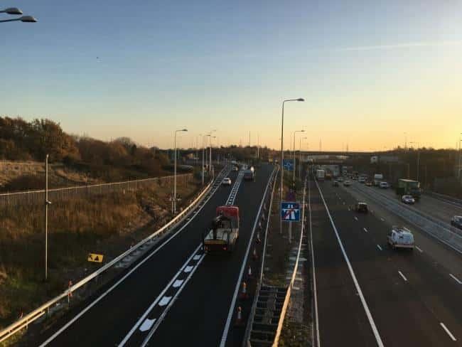 Two arrested and three dead after a car, lorry and minibus accident on M25